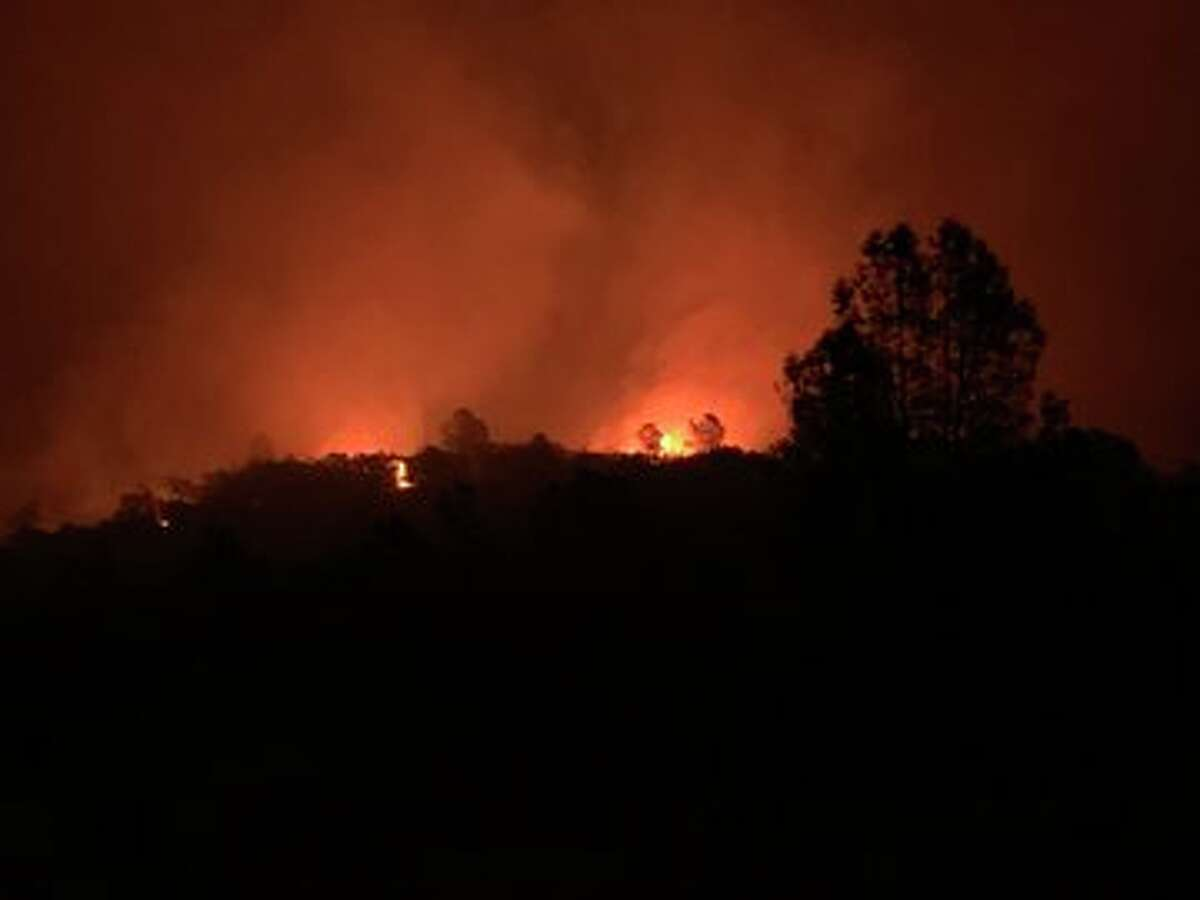 The Butte County Fire Department shared images of fire activity on the North Complex on Highway 162 near the Bidwell Bar Bridge.