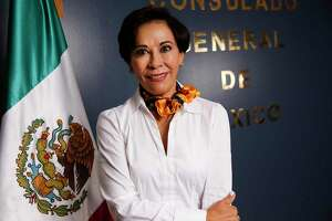 Mexican Consul Alicia Kerber in the office in Houston on Friday, Aug. 14, 2020.