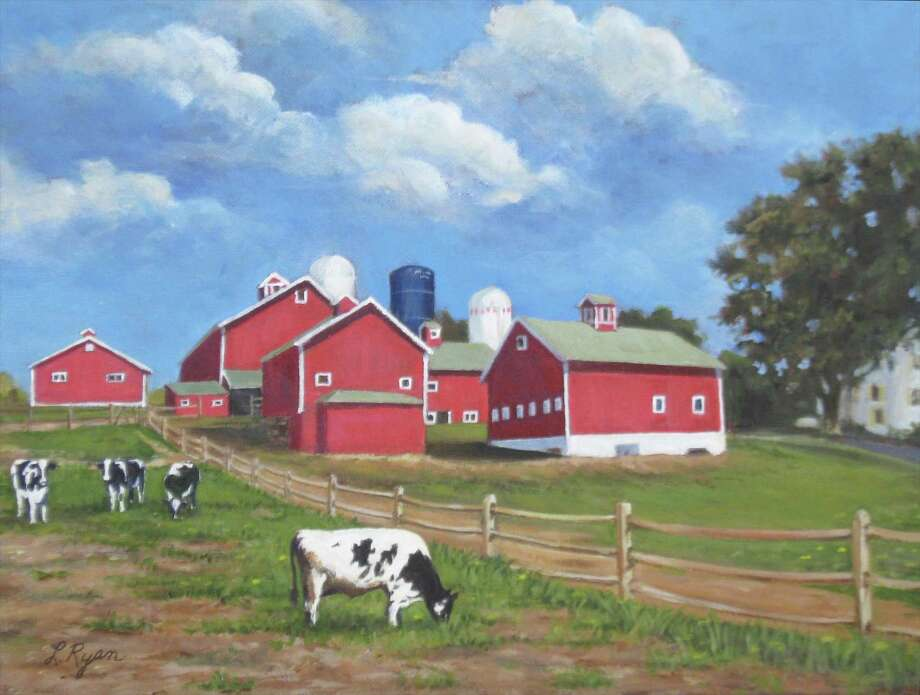 """The Sherman Library is presenting a new show, """"My Favorite Things"""" by Lorraine Ryan of New Milford through Sept. 16. The show features paintings of historic barns, landscapes and coastal scene, the intimate details of a flower in a garden, birds and animals. Ryan uses watercolors and acrylic to recreate life and memories. Above is """"Happy Acres Farm,"""" which will be featured in the show. Photo: Courtesy Of Sherman Library / Danbury News Times Contributed"""