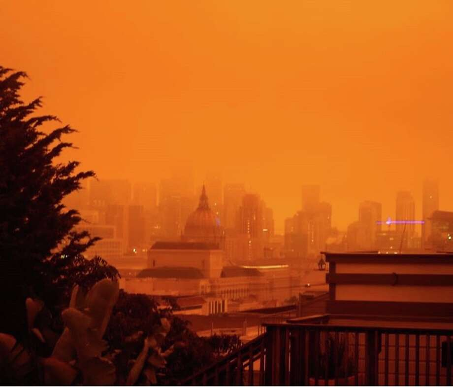 Bay Area sky turns bright orange, some areas see 'snowing' ash - SFGate