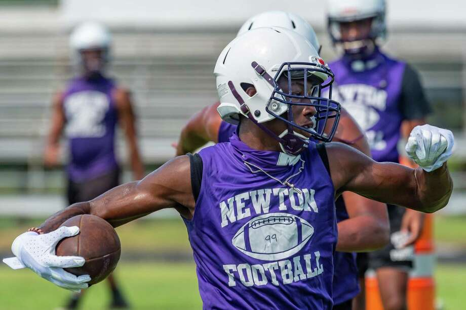 The Newton Eagles football team practices to get ready for the 2020 season. Photo made on August 13, 2020. Fran Ruchalski/The Enterprise Photo: Fran Ruchalski, The Enterprise / The Enterprise / © 2020 The Beaumont Enterprise