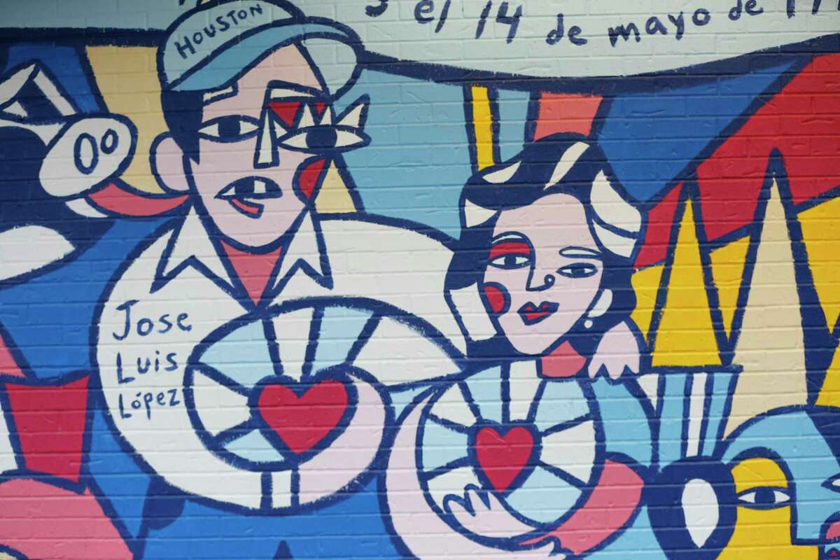 International muralist Claudio Limon created the story of the Gerardo's Drive-In restaurant owner Luis Lopez in a mural.