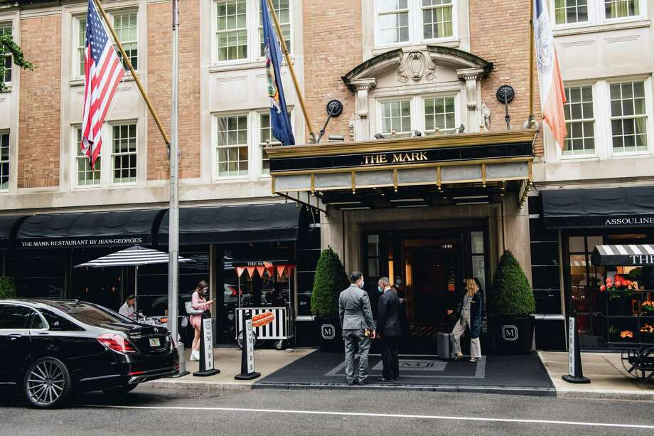 The Mark Hotel in Manhattan on Thursday, Aug. 13, 2020. One of New York's most luxurious hotels, The Mark recently fended off a foreclosure attempt by its lenders. (George Etheredge/The New York Times) Photo: GEORGE ETHEREDGE / George Etheredge/New York Times / NYTNS