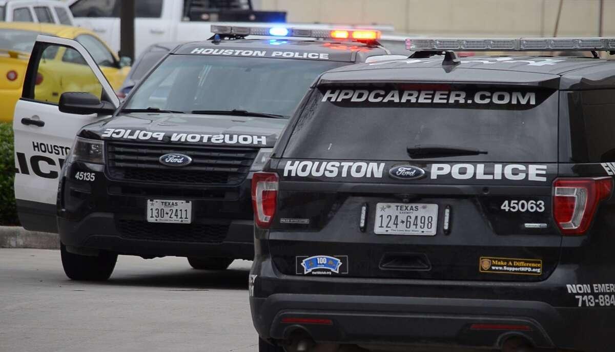Houston police respond to a scene.