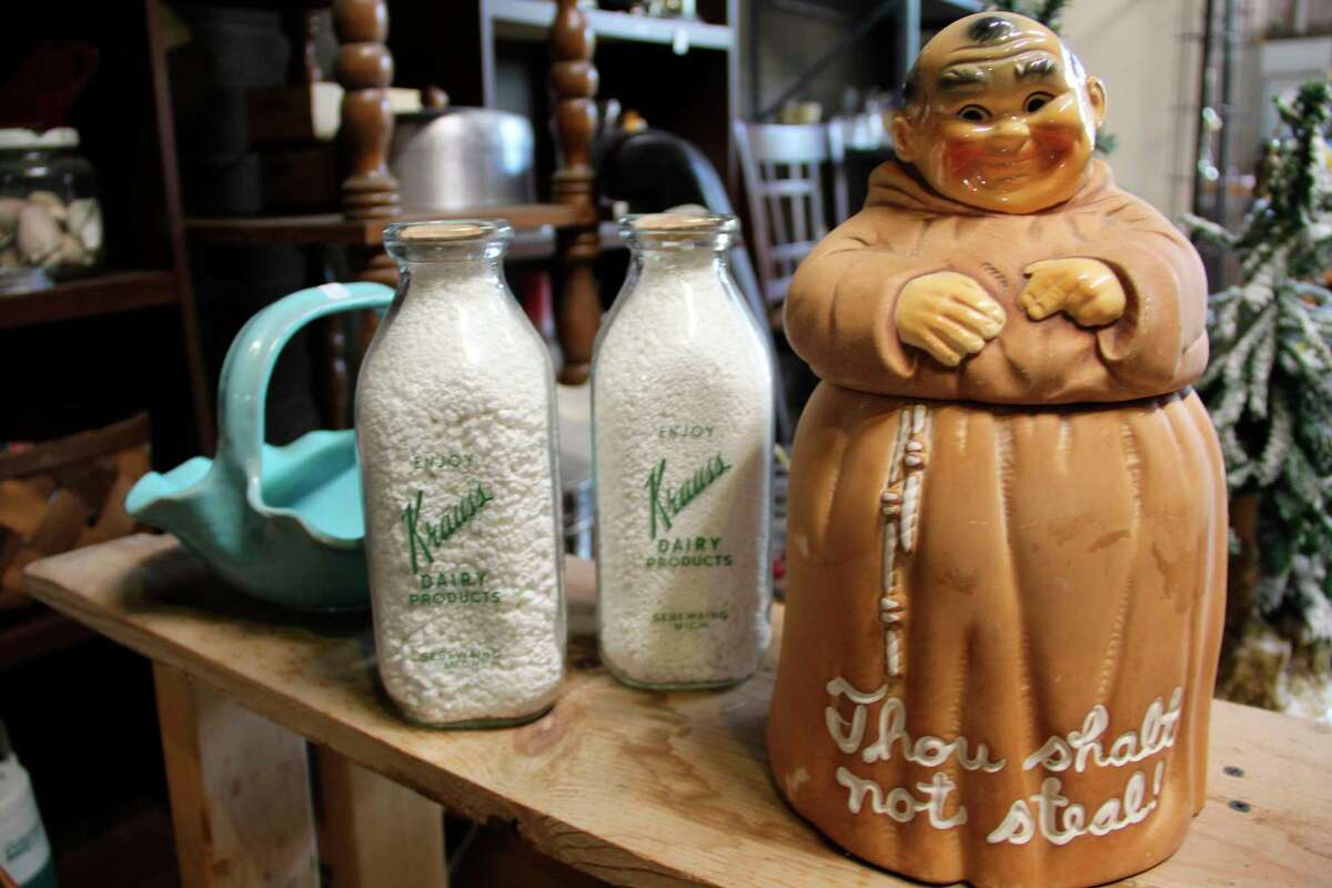 Some of the items at Sebewaing Antiques and Coins. (Robert Creenan/Huron Daily Tribune)