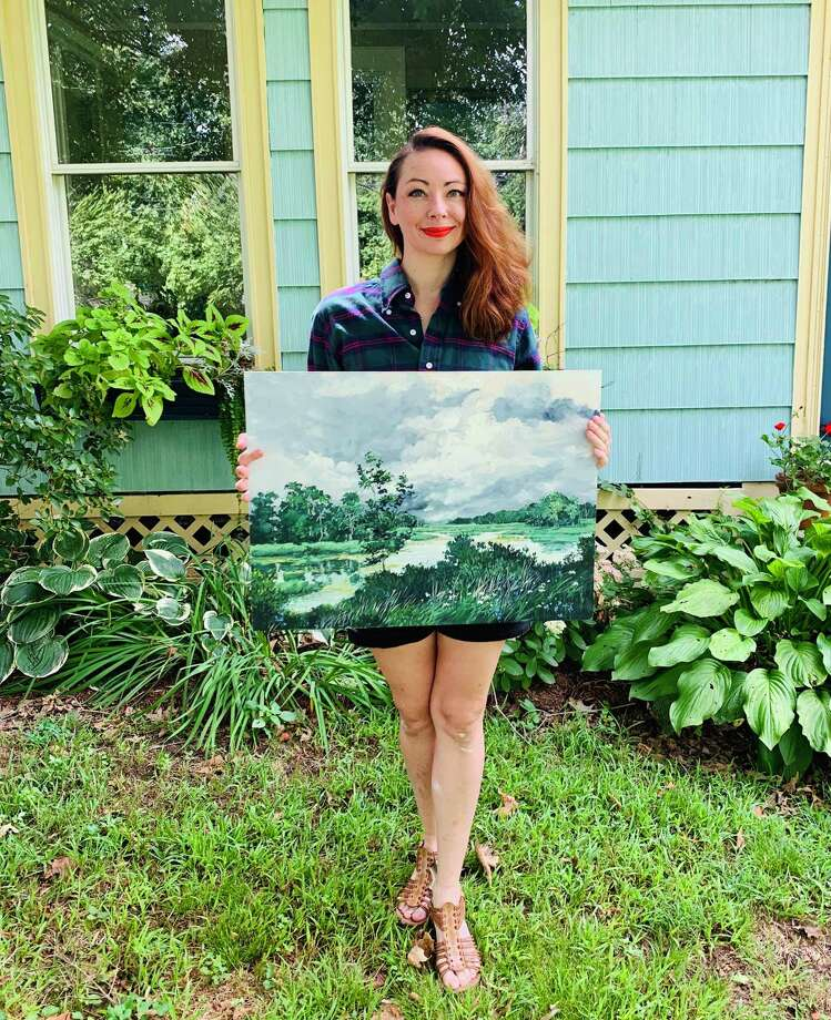 East Hampton artist Kate Avery is inspired by the Old Lyme-style artwork made famous by painters like Willard Leroy Metcalf in the late 19th century. Photo: Emily DiSalvo Photo