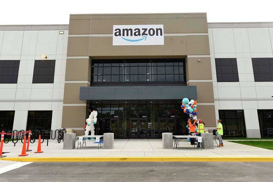 The Amazon warehouse is now open on Wednesday, Sept. 9, 2020 in Castleton-on-Hudson, N.Y. The new distribution center located in Schodack is the first in upstate New York. (Lori Van Buren/Times Union) Photo: Lori Van Buren, Albany Times Union / 40049903A