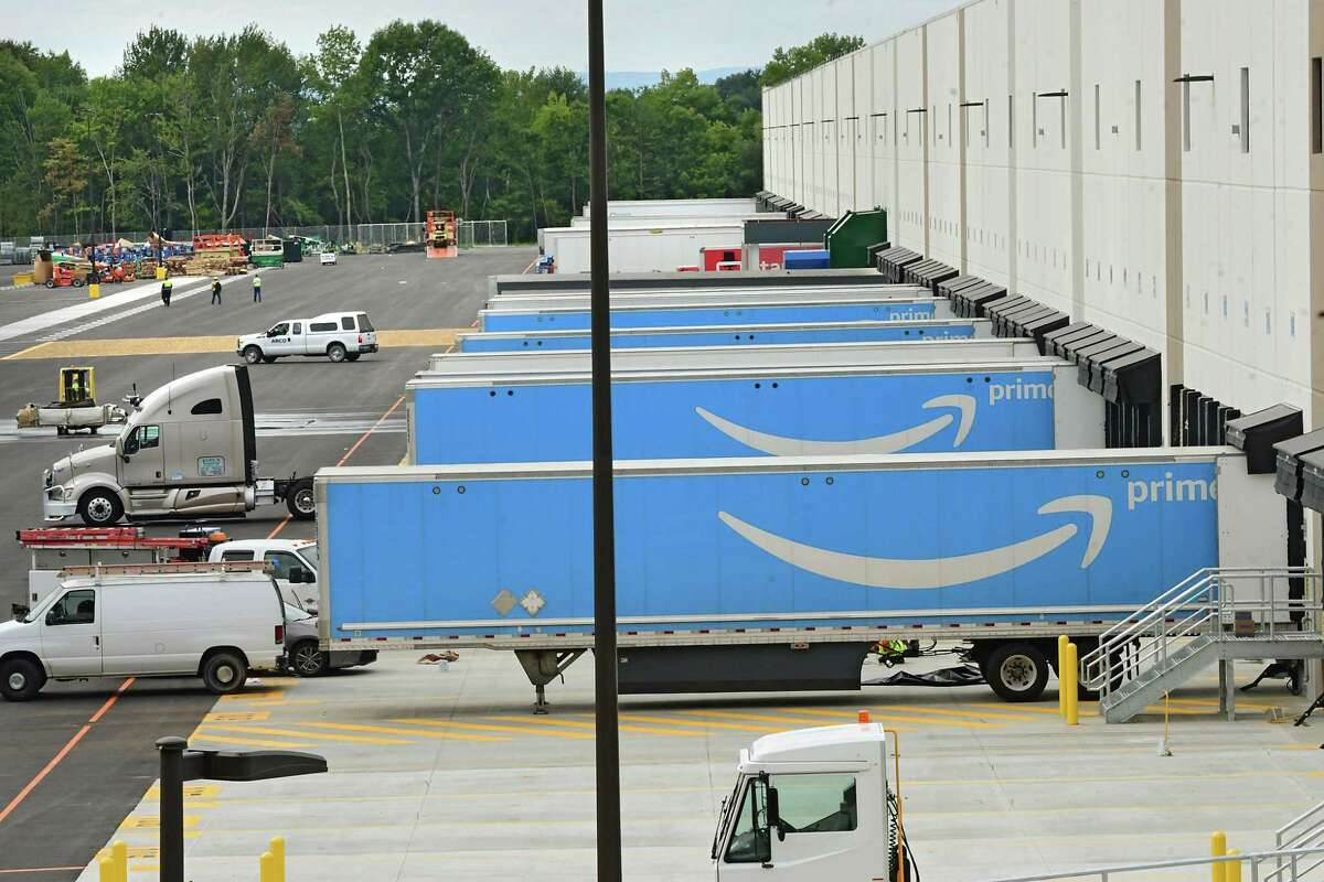 The Amazon warehouse on Wednesday, Sept. 9, 2020 after opening in Schodack. A second facility is being proposed nearby. (Lori Van Buren/Times Union)