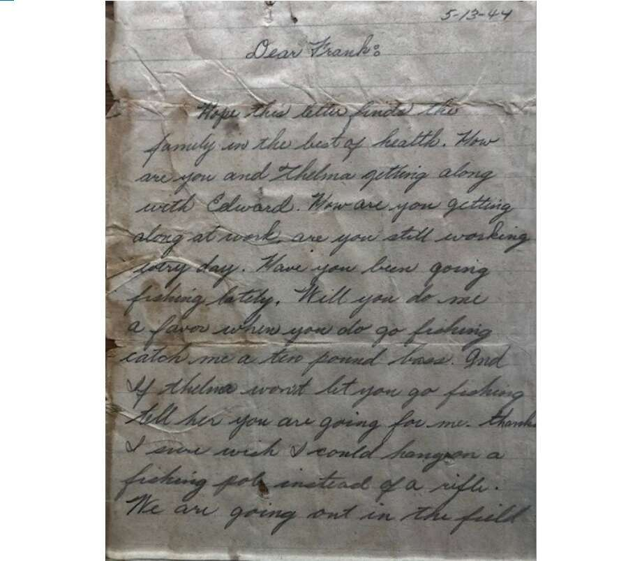 Page one of letter sent in 1944. Photo: Karla Savage
