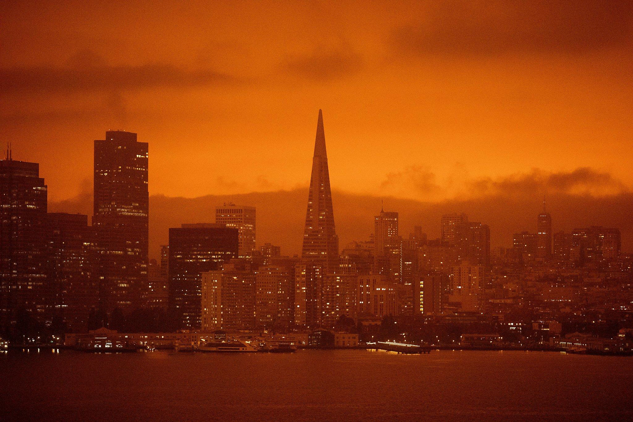 'Apocalypse on their mind': Bay Area transfixed by foreboding, orange, smoke-choked skies