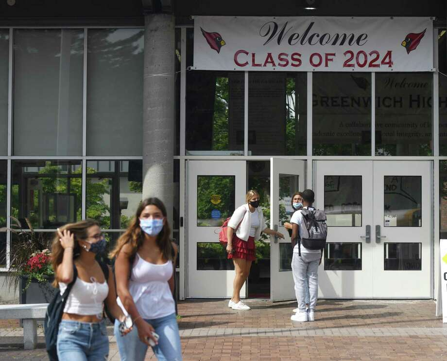 Greenwich High School welcomed students back earlier this month. Photo: File / Tyler Sizemore / Hearst Connecticut Media / Greenwich Time