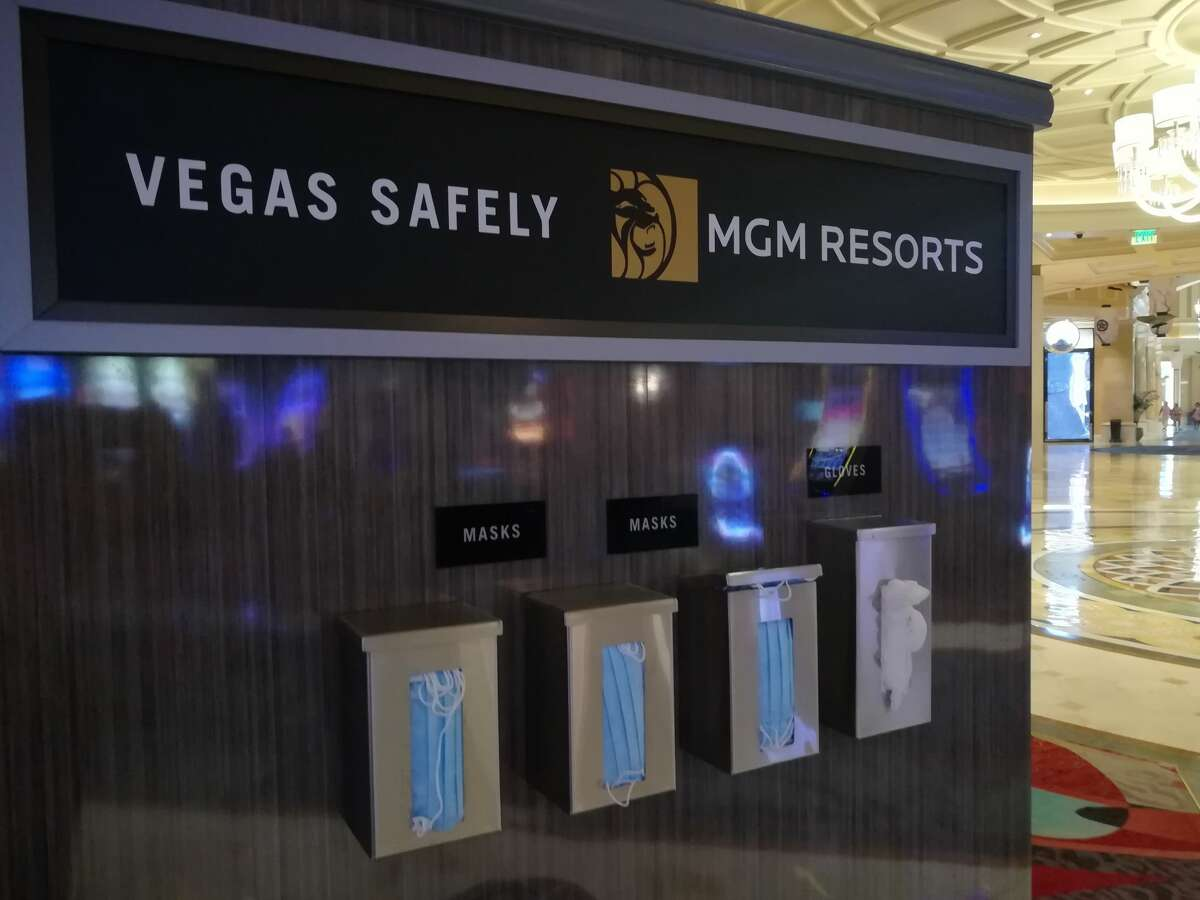 Other than a few holdout properties, most of the popular resort accommodations along the Strip have reopened. Guests will find a streamlined check-in process with reception queues marked with physical distancing measurements along with online check-in options. Caesars Entertainment resorts have a health and safety plan on their website alerting guests what to expect from housekeeping changes to amended amenities. Similarly, MGM Resorts shares their seven-point safety plan online to prepare guests for arrival. In general, guests can expect their Vegas resort hotel to have been thoroughly cleaned and sanitized prior to arrival. Since daily housekeeping is not occurring during the pandemic, to reduce contact between guests and staff, guestrooms are stocked appropriately to anticipate needs. That means additional towels and extra toiletries will already be in the guestroom, though guests are welcome to call housekeeping for supplies as needed.