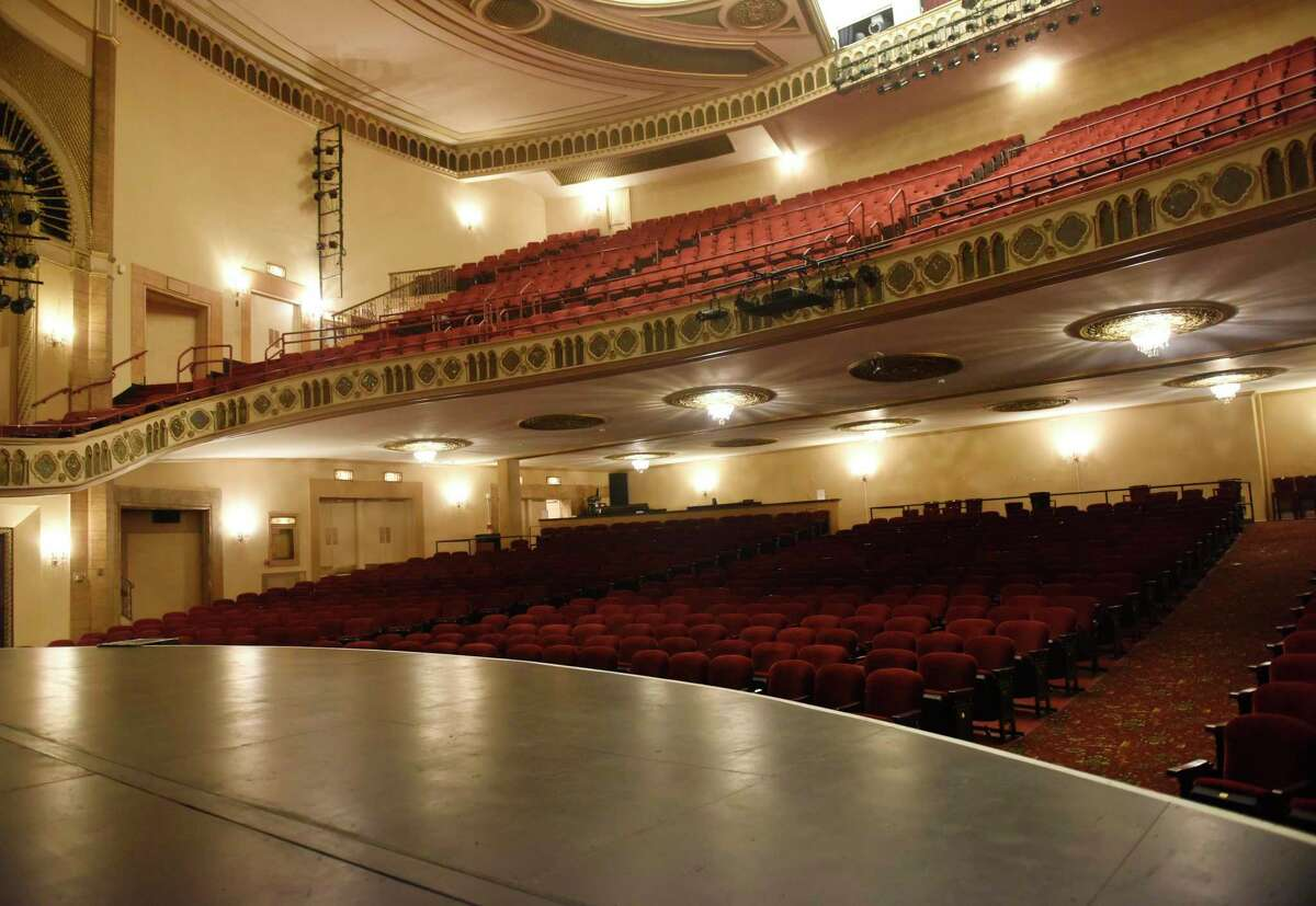 The empty auditorium inside the Palace Theatre in Stamford.