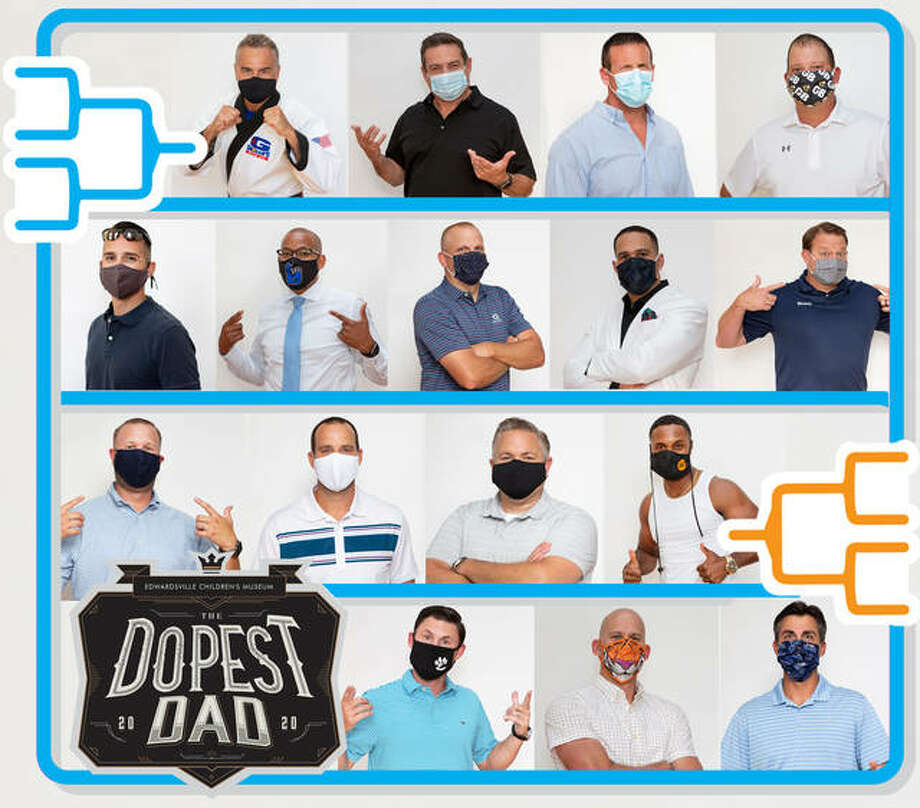 The Dopest Dad competition consists of 16 dads partnered up with their own local business sponsor. Photo: Courtesy Of Dear Hart Photography