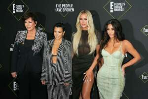 Kris Jenner, Kourtney Kardashian, Khloé Kardashian and Kim Kardashian at the 45th annual E! People's Choice Awards
