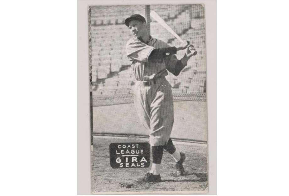 Frank Gira's 1933-36 baseball card. Photo: Archive