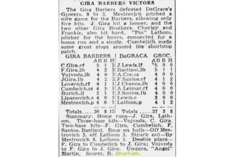 Baseball scorecard from the Oakland Tribune, 1936. Photo: Oakland Tribune