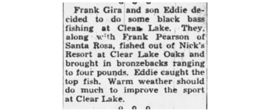 Fishing report, Oakland Tribune, 1954. Photo: Oakland Tribune