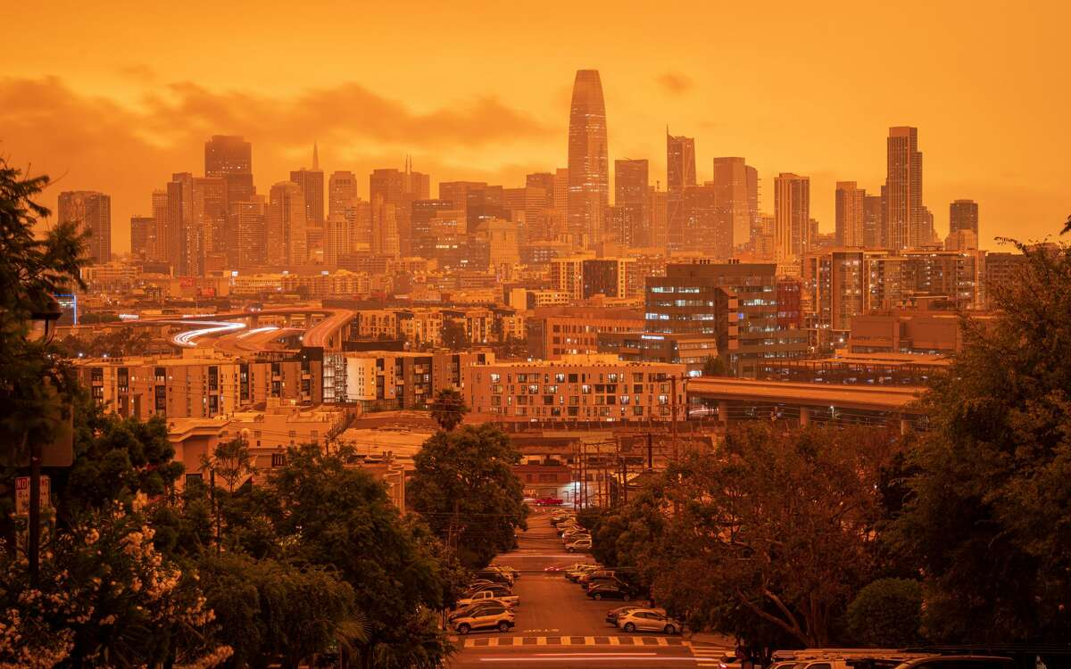 Jeffrey H Wong took this photo around 1 pm from Potrero Hill of San Francisco on Sept. 9, 2020.