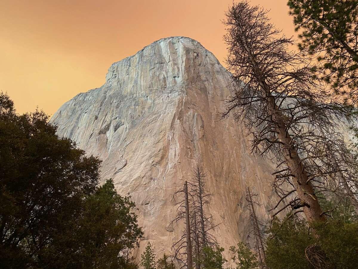 The Creek Fire made Yosemite's sky turn orange.