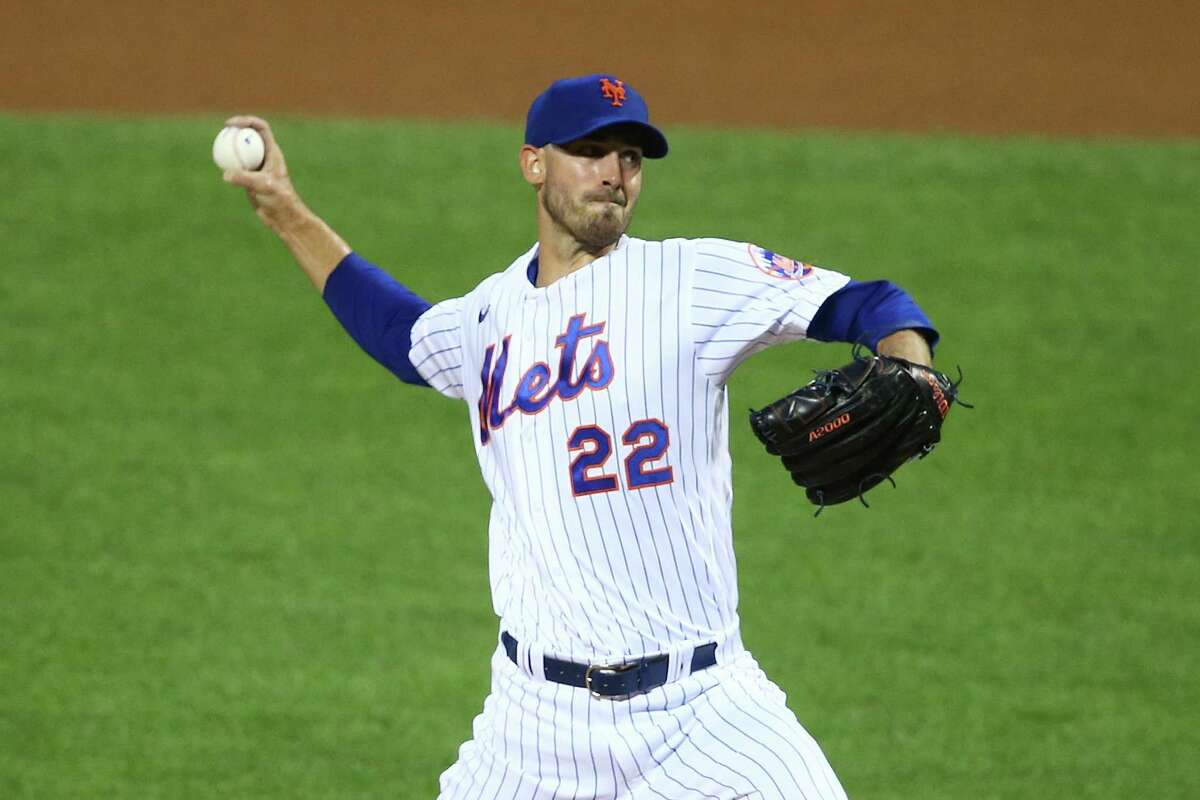 NEW YORK, NEW YORK - SEPTEMBER 09: Rick Porcello #22 of the New York Mets pitches in the first inning against the Baltimore Orioles at Citi Field on September 09, 2020 in New York City. (Photo by Mike Stobe/Getty Images)