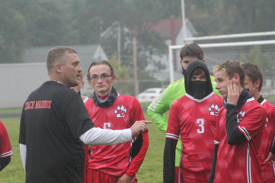Reed City's soccer team fell 9-1 to Newaygo in the Coyotes' home opener on Wednesday. Photo: John Raffel