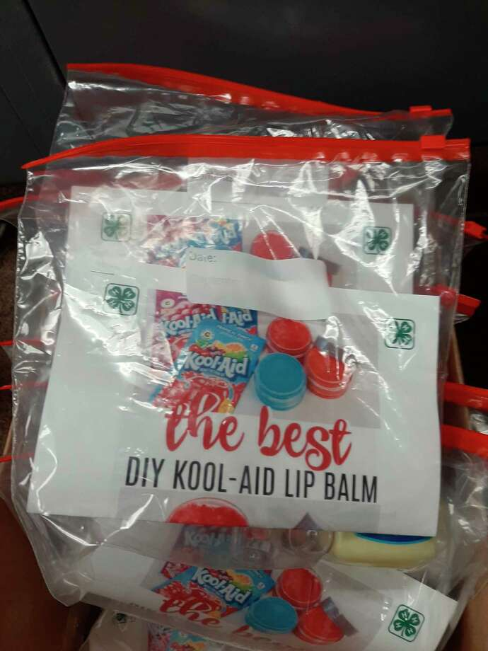 Kool-Aid lip balmwas one of the 4-H learning kits available to 4-H students in Lake County over the summer.The program was implemented in lieu of virtual activities for 4-H students in Lake County after meetings were suspended due to the COVID-19 pandemic. (Submitted photo)