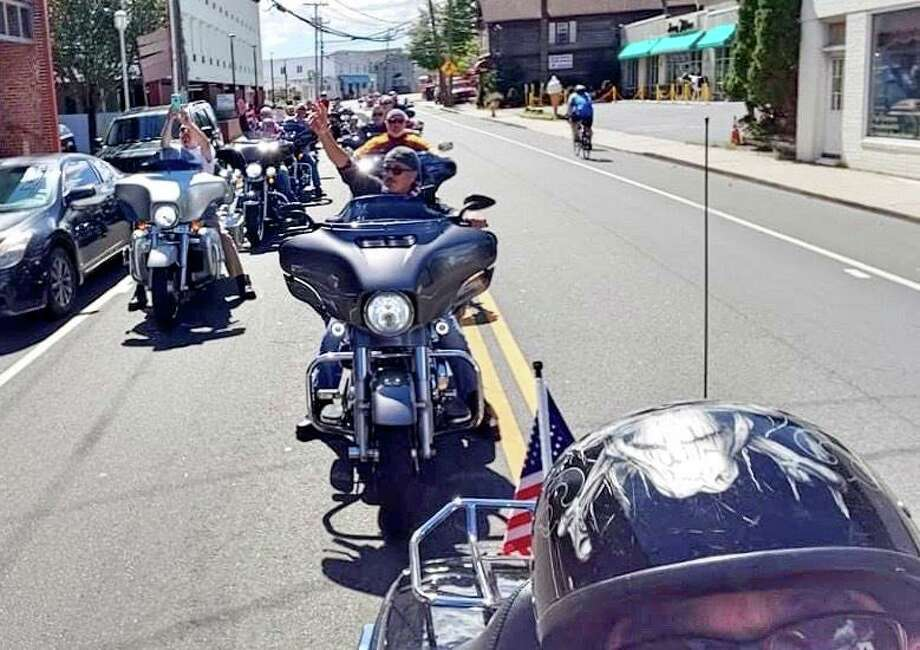"""The tradition continued last Sunday as a group of emergency responders, sponsors and volunteers completed an unofficial CT United Ride from Norwalk to Bridgeport. The riders followed the traditional route through 10 towns. Ride CEO Fred Garrity described the unofficial ride, the 20th since the 9/11 attacks, as """"No pomp or circumstance, just dedication."""" Photo: Contributed /"""