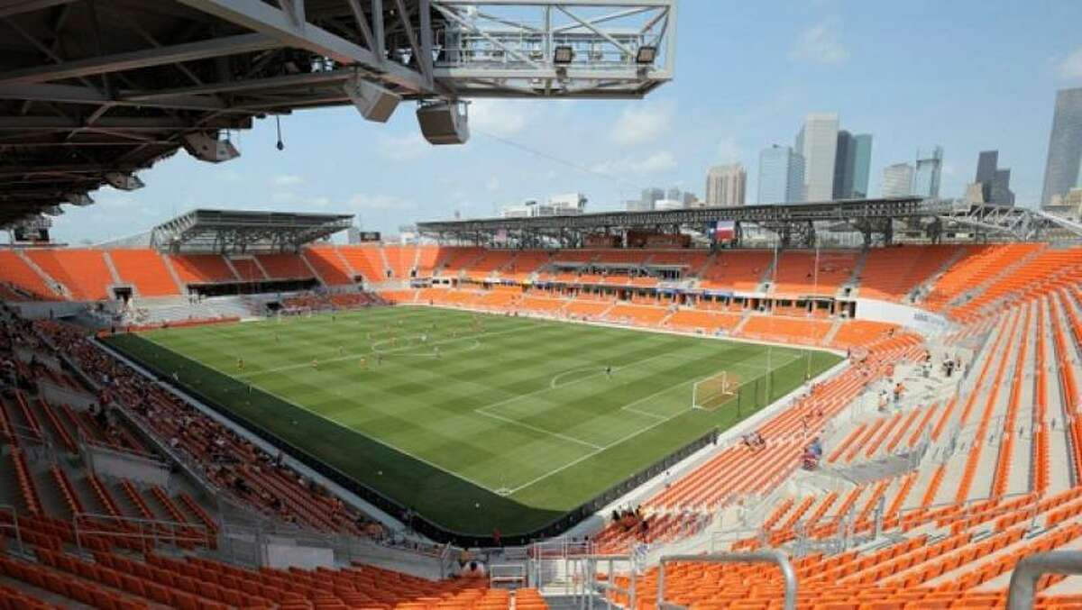 PHOTOS: A look at the most recent Houston Dash game where they allowed fans in a limited capacity Any Harris County registered voter will be able to cast their ballot at BBVA Stadium this year.
