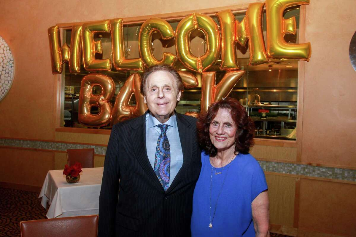 Tony and Donna Vallone at Tony's in Houston during their reopening on May 1, 2020.
