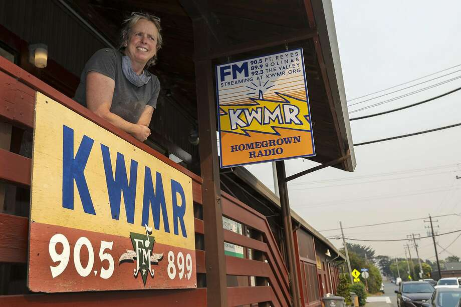 Amanda Eichstaedt, general manager at KWMR, outside the public radio station in Point Reyes Station in Marin County.(Irfan Khan/Los Angeles Times/TNS) Photo: Irfan Khan, TNS