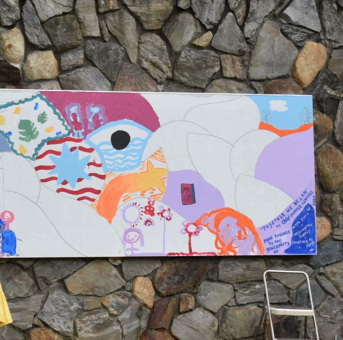Campers at theASAP! Camp program painted Murals in Torrington and Washington.