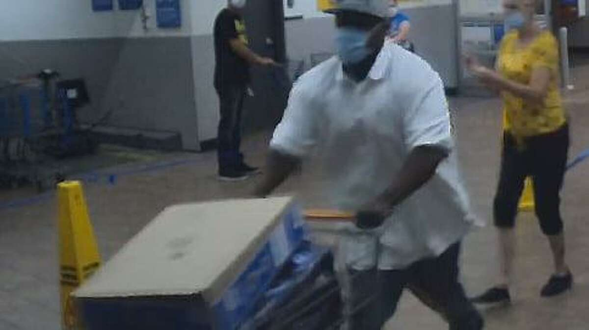 Naugatuck police say this man was linked to a recent attempted shoplifting at Walmart.