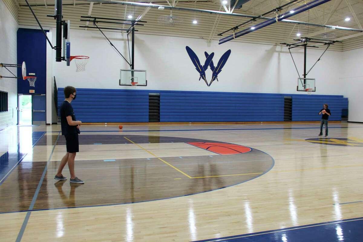 The renovation North Huron High School gymnasium (Robert Creenan/Huron Daily Tribune)