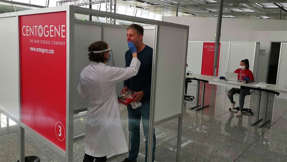 Lufthansa's COVID testing center at Frankfurt Airport conducted 150,000 tests this summer. Photo: Lufthansa