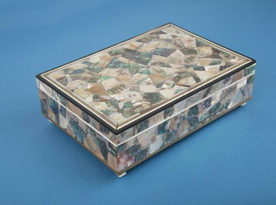 Box made of abalone, ivory, and baleen by John R. Stivers, c. 1860. Stivers was master of a whaling voyage in the schooner Tekoa of Stonington (1859-60). Photo: Joe Michael/Mystic Seaport Museum / Contributed Photo