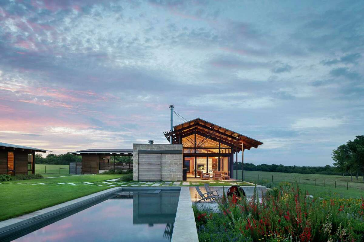 The Washington County home of Kerry and Angela Stein was designed by Lake Flato Architects. It's located in Gates Ranch, a community of small farms or ranches on land once owned by Amos Gates, a land scout for Stephen F. Austin and one of the Old Three Hundred colonists.