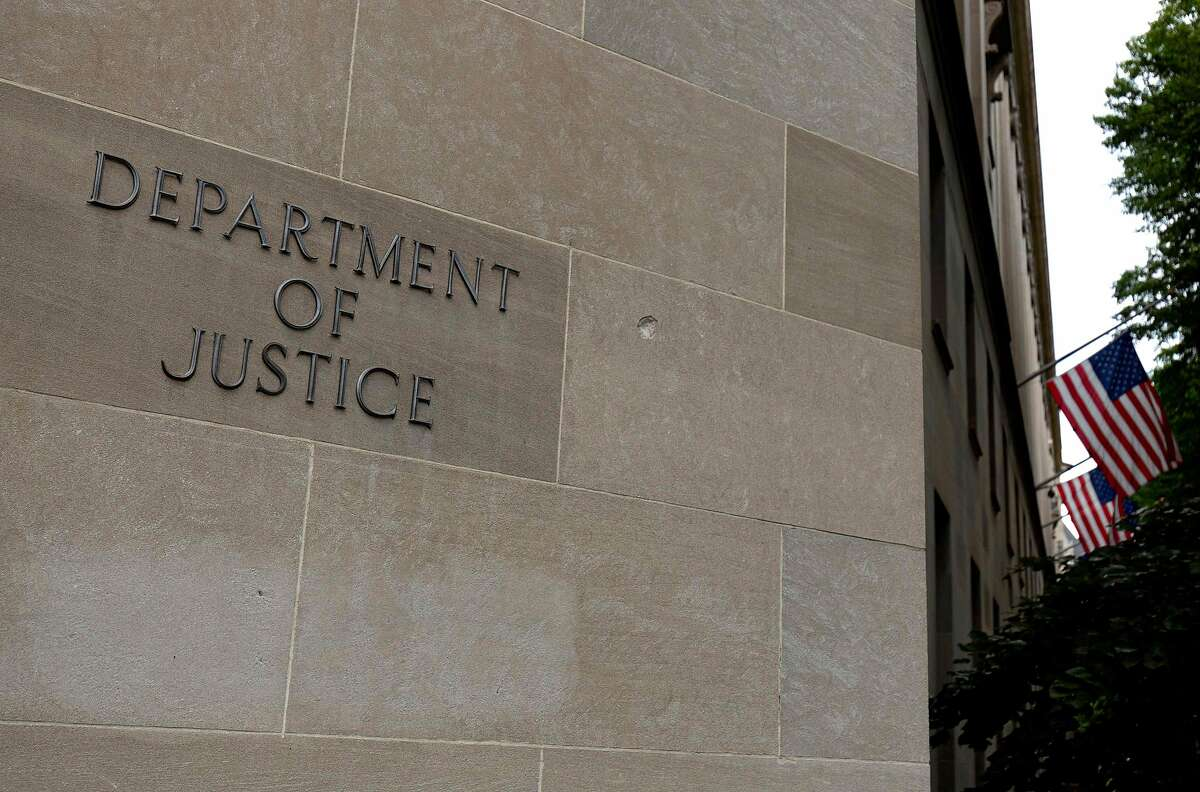 The US Department of Justice building in Washington