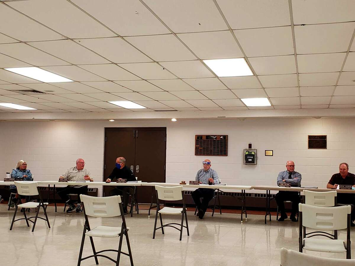 The Huron County Board of Commissioners at this week's meeting on Wednesday. (Robert Creenan/Huron Daily Tribune)