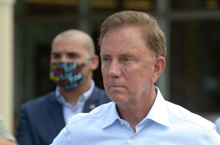 Gov. Ned Lamont is scheduled to give the keynote speech during the Stamford Chamber of Commerce's annual meeting on Sept. 30, 2020 at the Residence Inn by Marriott in downtown Stamford, Conn. Photo: H John Voorhees III / Hearst Connecticut Media / The News-Times