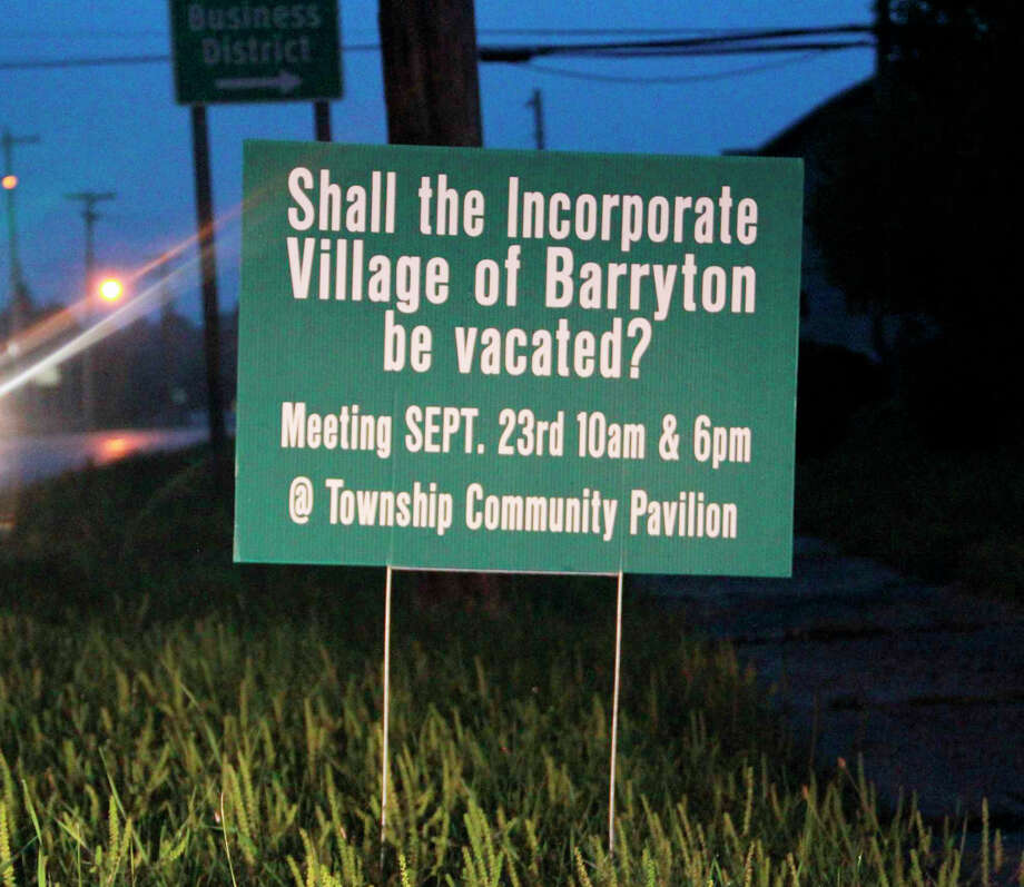 "With 41 signatures requesting the question, ""Shall the incorporated Village of Barryton be vacated?"" to be on the November ballot, residents will now have the opportunity to decide the village's fate. Photo: Pioneer Photo/Alicia Jaimes"
