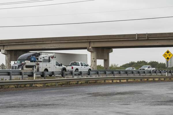Traffic flows under and over the Cotton Flat Rd overpass at I-20 09/10/2020 afternoon. Tim Fischer/Reporter-Telegram