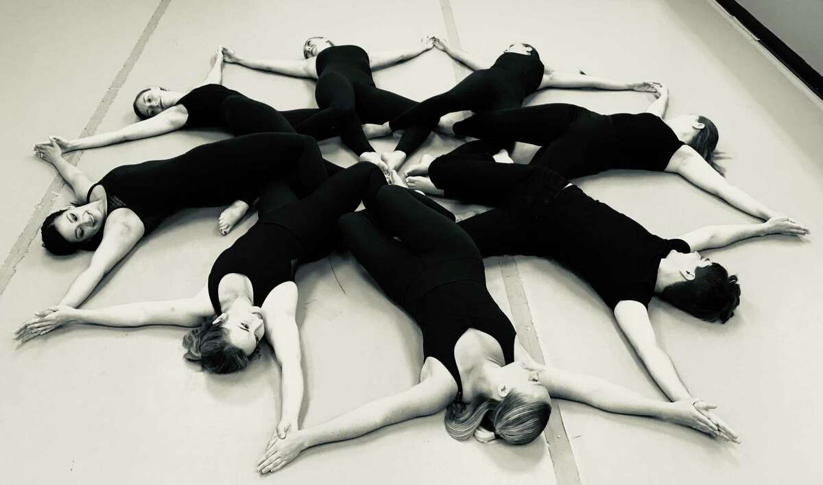 ATTAK Dance Company members form a pattern.