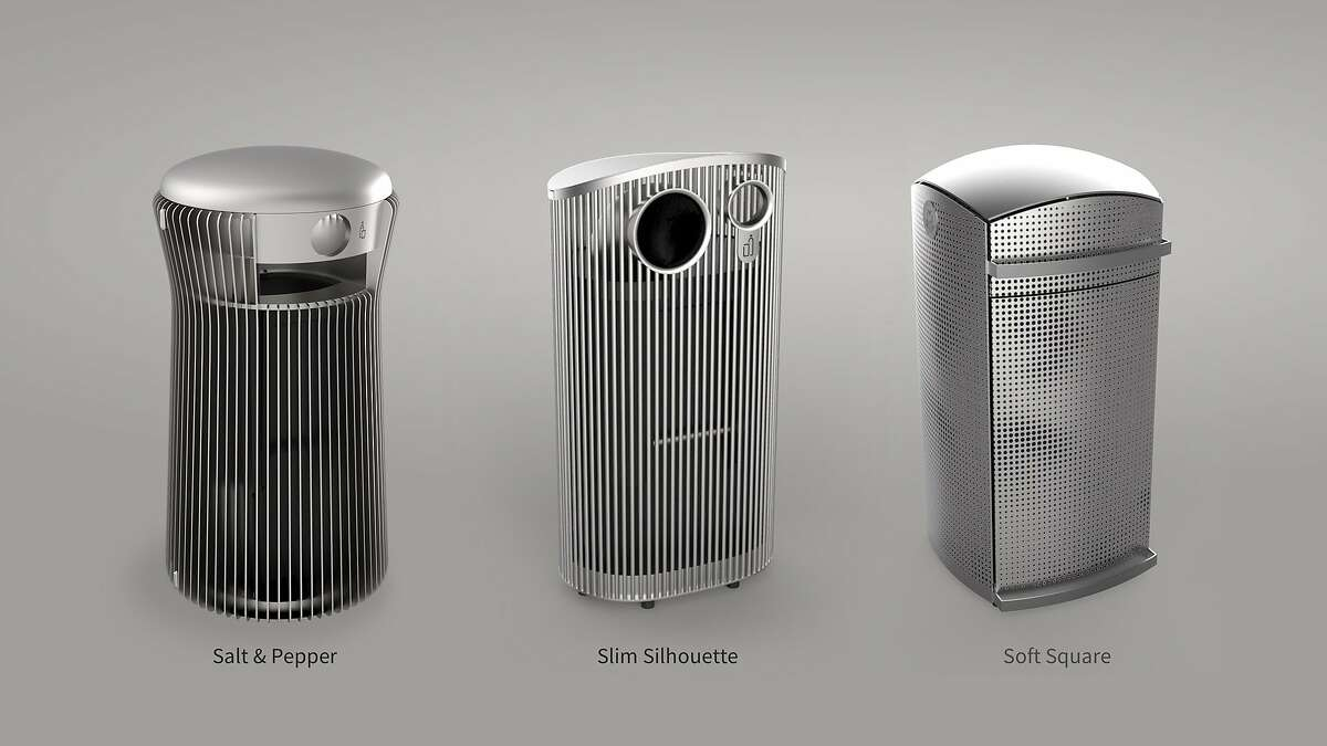 Three trash can designs are in the running to replace the more traditional-looking green ones now on San Francisco Streets.