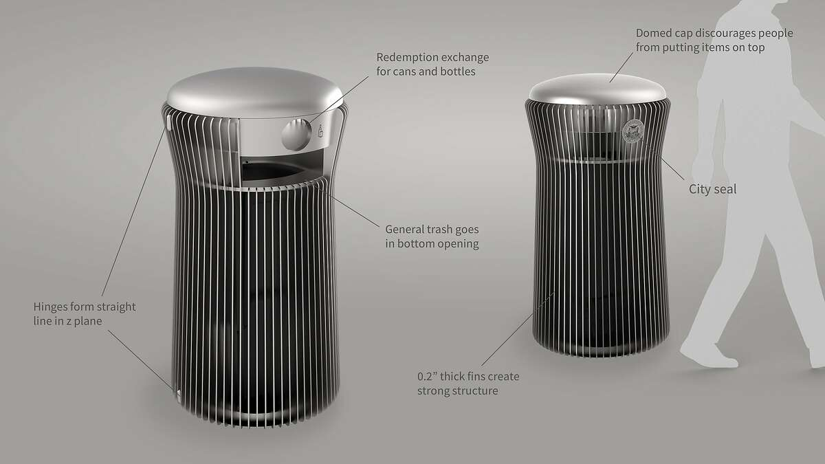 Three trash can designs are in the running to replace the more traditional-looking green ones now on San Francisco Streets.�The prototypes unveiled on Sept. 11 by��San Francisco Public Works, which were designed in collaboration with Institute for Creative Integration,��will be displayed on city streets before a final decision as to the replacement is made.