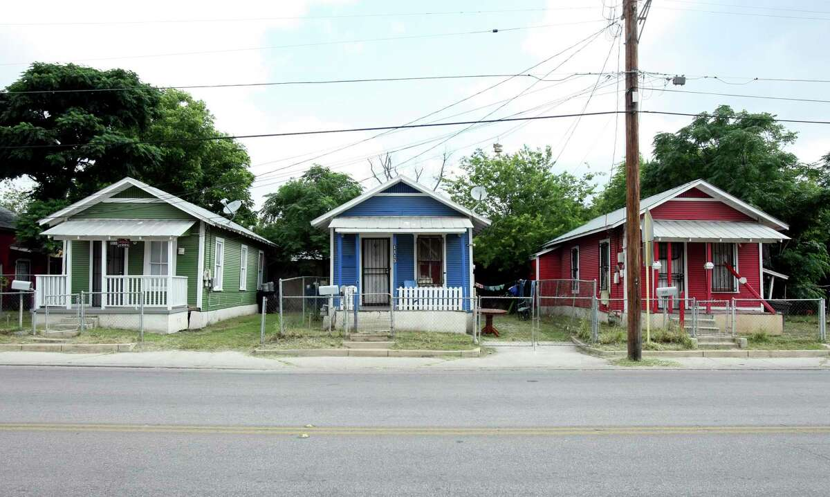 These shotgun houses located in 1100 block of Guadalupe are an prime example of the architectural style. All three have been designated a historic landmark in San Antonio.