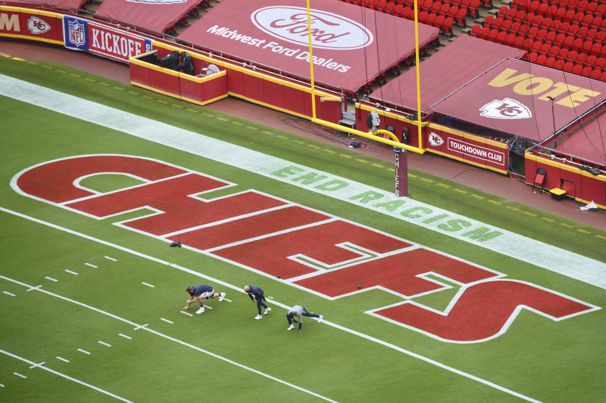 Betting football in end zone in the nfl