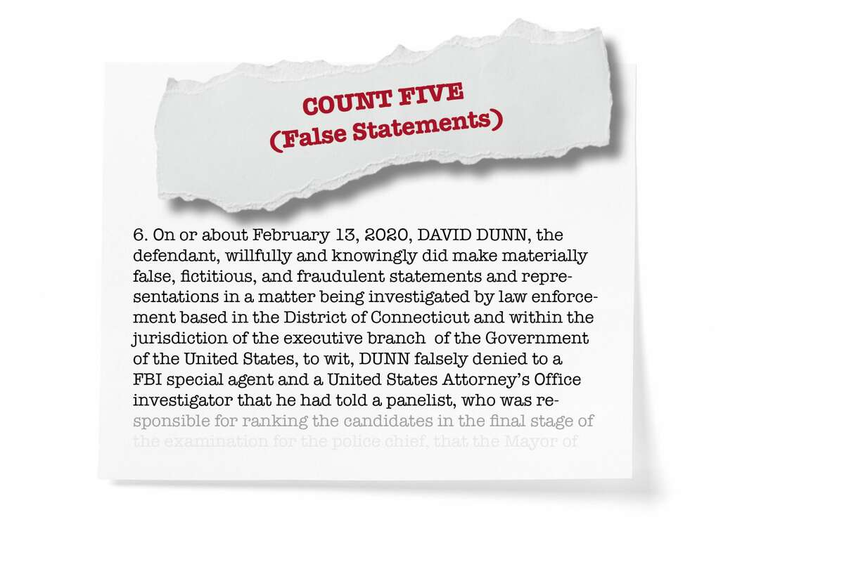 Count five: False statements by Dunn