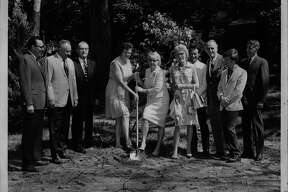Groundbreaking for public library in Bethlehem. September 03, 1970 (L. Spelich/Times Union Archive)