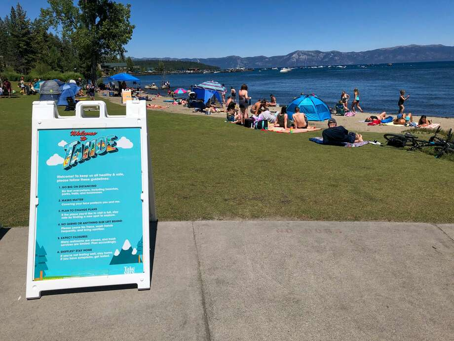 The coronavirus pandemic and the wildfires haven't stopped tourists from visiting Lake Tahoe, seen here in July. Photo: Julie Brown / SFGATE
